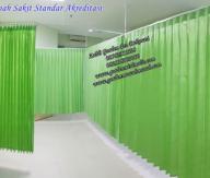 Gorden rumah sakit standar akreditasi Gorden anti bakteri Gorden anti Noda gorden plastik pvc gorden blackout rumah sakit