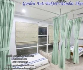 Gorden rumah sakit standar akreditasi dan Hospital Track gorden anti noda gorden anti bakteri