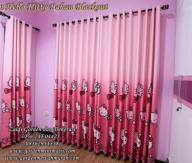 gorden kamar anak perempuan gorden hello kitty pink terbaru bahan blackout berkualitas