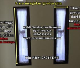 Cara Mengukur Gorden Pita disertai foto gorden dan berbagai macam gorden pita (artikel cara mengukur gorden , kumpulan cara mengukur gorden)