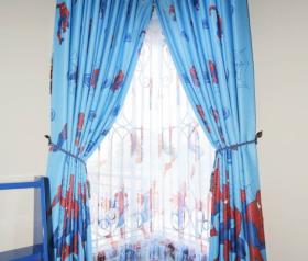 gorden kamar anak terbaru motif karakter spiderman terbuat dari bahan blackout berkualitas gorden untuk kamar anak laki