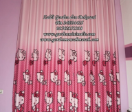 Jual Gorden Hello Kitty Murah Bahan Blackout berkualitas Gorden anak Cantik
