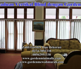 Gorden Kantor Vertikal blind sharp point onna pelangi horizontal blind wooden blind