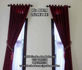 Gorden Pita Untuk jendela minimalis