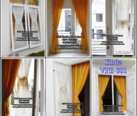 Gorden Pita menggunakan vitrage bordir Gorden minimalis jendela kecil