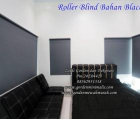 Jual Gorden Roller Blind blackout berkualitas harga permeter di jakarta surabaya bandung yogyakarta kudus jepara solo bali