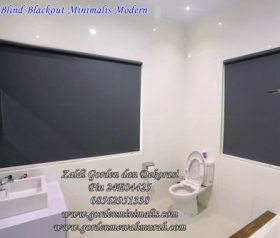 Jual  Gorden Roller Blind bahan blackout dapat digunakan di jendela kamar, pintu, kamar mandi, jendela antar ruangan maupun dapur
