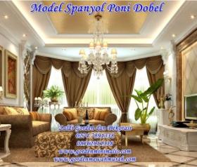 Gorden Poni Gelombang terbaru model lengkung dobel