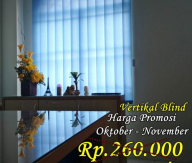 Gorden Kantor Vertikal blind murah harga promosi kualitas atas
