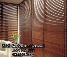 Gorden kayu wooden blind