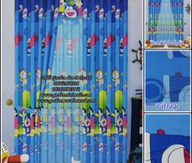 Motif Gorden Doraemon murah Model gorden Doraemon rumah doraemon gorden anak