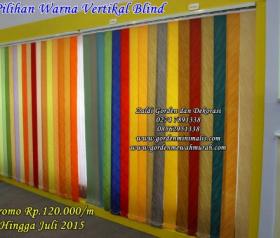 Pilihan warna vertikal blind murah