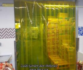 Tirai gorden plastik untuk pabrik gudang dapur rumah sakit ruang obat cool storage pendingin pvc strip curtain tirai bening di jakarta surabaya semarang bandung yogyakarta 1