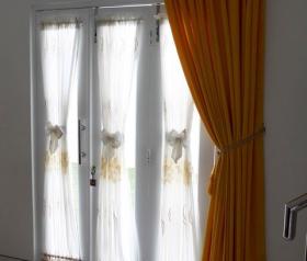 Gorden Vitrage Bordir Pita untuk rumah minimalis