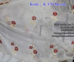 Vitrage bordir import murah terbaru kode K370 Merah